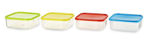 All Time Plastics Polka Container Set, 500ml, Set of 4, Multicolour