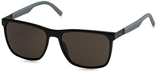 Tommy Hilfiger Herren Sonnenbrille TH 1445/S NR L7A 57, Schwarz (Black BRW Grey) Preisvergleich