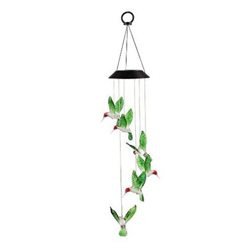 Generic Solar Windspiele Farbe Wechselnden LED Schmetterling Licht Lampe Hause Garten Dekoration – Grün - 6