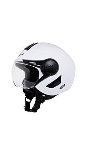 3f758d06 ... Vega Verve Open Face Motorbike Helmet White Colour - Medium Size (58  CM) ...