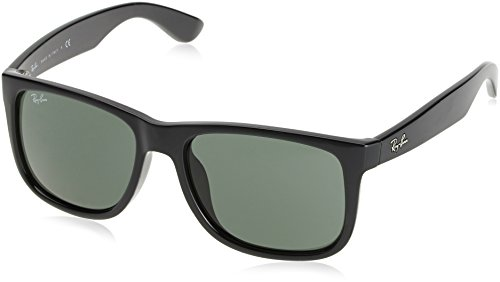 Preisvergleich Produktbild Ray-Ban Men's Justin Non-Polarized Iridium Rectangular Sunglasses,  Grey,  55.2 mm
