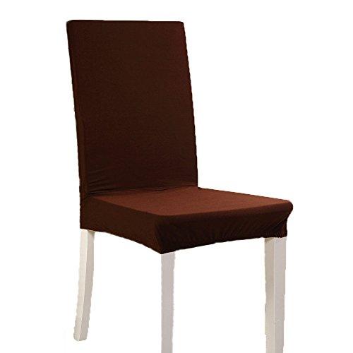 Strechhusse für Eßzimmer Stuhl mit elastischer Riemen waschbar Abnehmbare Bezüge der Sitze...