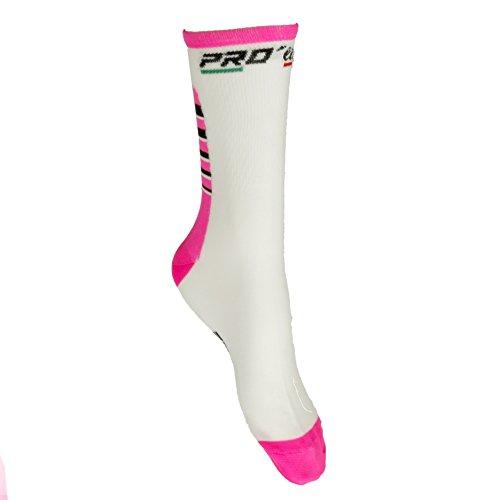 Preisvergleich Produktbild Socken Bike Proline Pink Weiß Cycling Socks 1 Paar One Size