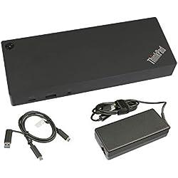 Lenovo USB-C/USB 3.0 Réplicateur de Port de INCL. Chargeur (135W) Original pour la Serie Aorus X3 Plus v6