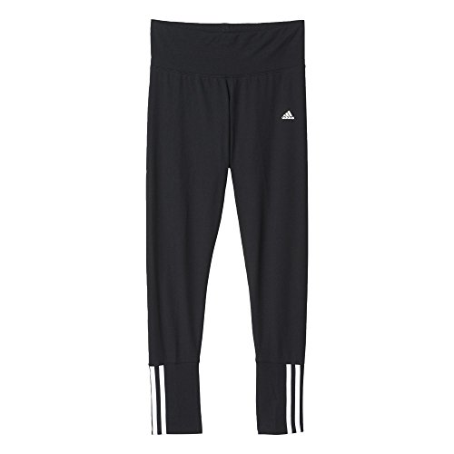 adidas Damen Hose Essentials 3-Stripes Tight Black/White