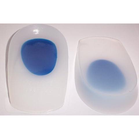 Plantillas/Insertos/Almohadillas de Talón de Comodidad de Gel Silicón - no presente, Grande (Puntos Azules) UK 7-11/EU