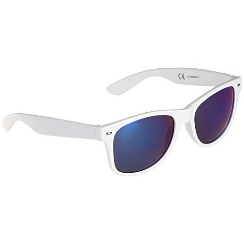 Ultrasport Wave Gafas de Sol, Unisex Adulto, Blanco/Azul