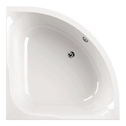 AquaSu 80094 5 Acryl-Eckwanne Cora 120 weiß, Eckbadewanne 120 x 120 cm, 120 cm