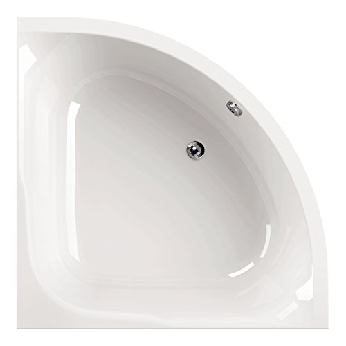 AquaSu I Acryl - Badewanne cOra I 120 x 120 cm I Weiß I Wanne I Badewanne I Bad I Badezimmer