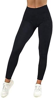 iNoDoZ Women's Yoga High Waist Solid Workout Leggings Fitness Sports Gym Running Athletic P