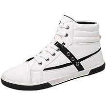 WWricotta LuckyGirls Zapatillas Casual Hombres Botas Altas Moda Remaches Clasicas Cómodas Calzado Andar Zapatos Planos Bambas