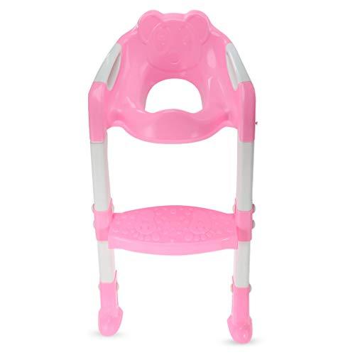 LSAltd Baby Kind Töpfchen Toilettentrainersitz Trittleiter Verstellbarer Trainingsstuhl (Kurze Trittleiter)