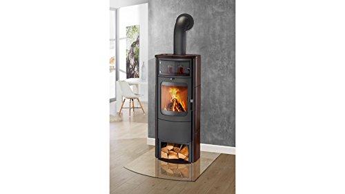 Preisvergleich Produktbild HARK Kaminofen Opera B Grande, Kachel jola-braun, 7 kW, Dauerbrand, mit Holzfach