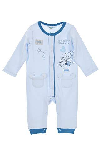Disney Baby Strampler Jungen hellblau | Motiv: Mickey Mouse | Baby Schlafanzug ohne Füße für Neugeborene & Kleinkinder | Größe: 12-18 Monate (86) (Disney Für Kleinkinder Schlafanzug)