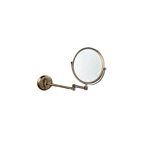 AZHom Grüne Bronze an der Wand befestigte Spiegel Spiegel Bad an der Wand montiert Spiegel einziehbaren Kosmetikspiegel Retro-Spiegel Spiegel -