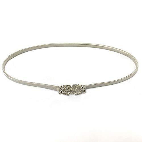 TMSHEN Rose Damengürtel Aus Metallschnalle Luxus Elegante Enge Stretchgürtel Für Frauen Dünne Goldfarbene Splittergürtel Für Kleider Von Hoher Qualität