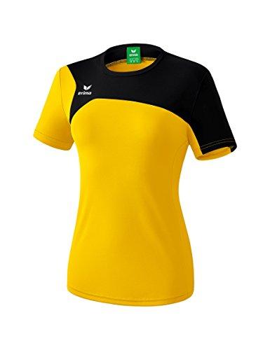 Erima Damen Club 1900 2.0 T-Shirt, gelb/schwarz, 46 -