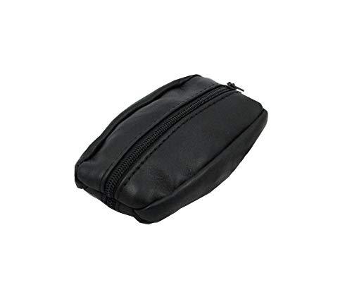 Monedero de hombre–de Piel auténtica–negro