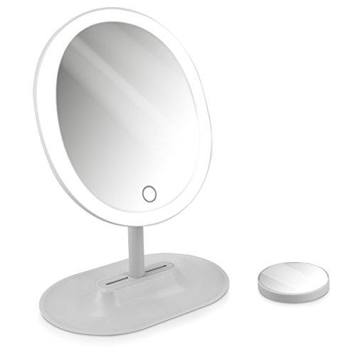Navaris Set Espejos Maquillaje LED - Espejo 10 aumentos