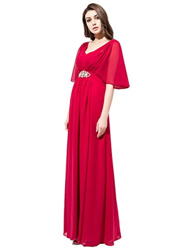 Dresstells Robe de cérémonie Robe de soirée en mousseline forme princesse longueur ras du sol Lilas