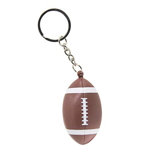Happyyami Sportball Keychain führte helles Keychain Rugbyschlüsselringbeutel-Charme-Anhängerdekorationen -