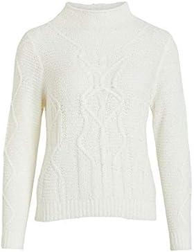 Vila Vistitta Knit Cable L/S Top, suéter para Mujer