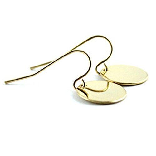 Anoa Ohrhänger goldig vergoldet Geschenk Geschenkidee Plättchen Plättchenschmuck Farbe: Gold
