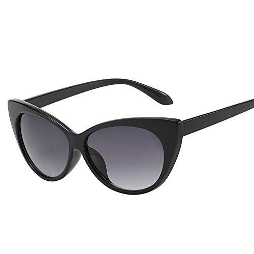 Yangjing-hl Persönlichkeitstrend-Modesonnenbrille Katzenauge-Sonnenbrille weibliche Sonnenbrille des runden Gesichtes HEISSES Flugschreiberdoppeltgrau