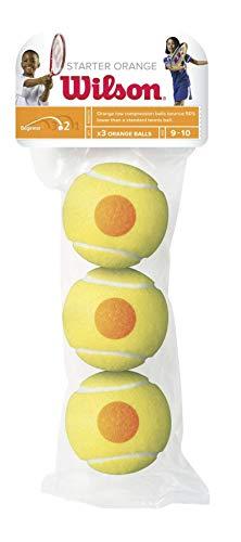Wilson Tennisbälle Starter Orange für Kinder, gelb/orange, 3er Pack, WRT137300