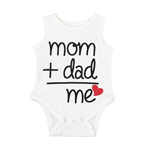 ampler Unisex Baby Kurzarm Body Spruch Brief drucken Tops Bodysuit Jungen Strampler - Baby Mädchen Strampler mit Mom Dad Muster ()