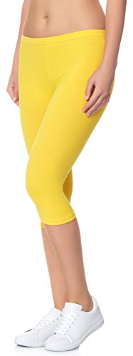 Ladeheid Damen Leggings 3/4 LAMA01 Gelb7