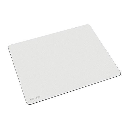 Apple Pad (Elzo Gaming Mauspad Aluminium Mausunterlage mit Wasserdichte Oberfläche und Anti-rutsch Gummiunterseite 250 x 200 x 3mm (Silber))