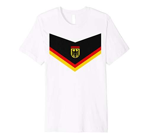Deutschland Fußball T-Shirt - Schwarz Rot & Gelb - Nummer 10
