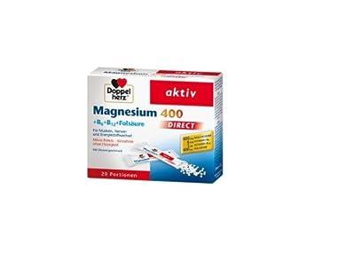 Double Heart Magnesium 400Direct + B6+ B12+ Folic Acid (Pack of 20) by Doppelherz