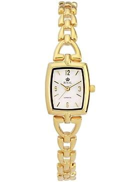 Royal London Damen-Armbanduhr Analog Edelstahl weiss 20044-04