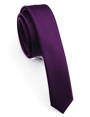 JEMYGINS Krawatte Lila schmale Krawatten für Herren seide schmale Hochzeit Schlips (12)
