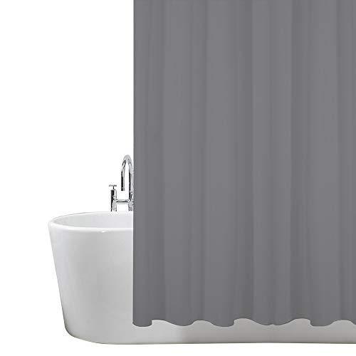 ANSIO Duschvorhang, Badezimmer, Badewanne, Umweltfreundlich, Waschbarer, Anti-Schimmel, Anti-Bakteriell, Schimmelresistent Duschvorhang - Kohlen Grau- 180 x 180 cm (71 x 71 Zoll) | 100% Polyester