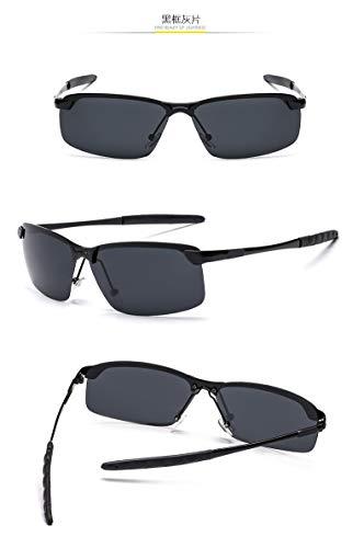 IFMASNN Im Freien, Männer, polarisiert, Mode, Trend, Sonnenbrille, Quadrat, Fischen, Fahren, schwarzer Rahmen grau