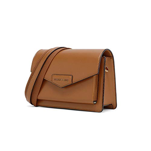 GAOQQ Herbst Kleine Quadratische Tasche Tauschen Einzelne Schulter/Crossbody Flap Bag Für Frauen,Brown