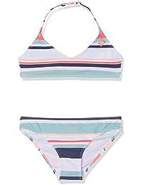Roxy Happy Spring, Costume da Bagno Two Piece Bambina, Bright White On My Way Swim, 8