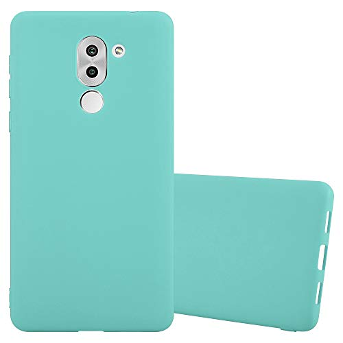 Cadorabo Hülle für Honor 6X - Hülle in Candy BLAU - Handyhülle aus TPU Silikon im Candy Design - Silikonhülle Schutzhülle Ultra Slim Soft Back Cover Case Bumper