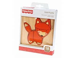 Fisher price - 32500b - puzzle en bois animaux renard