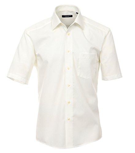 CASA Moda - Comfort Fit - Bügelfreies Herren Business Kurzarm Hemd Verschiedene Farben (008070), Kragenweite:40;Farbe:Creme (62) -