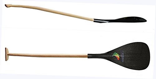 Z&J SPORT leggero ibrida Outrigger Canoe OC Paddle con fibra di carbonio Lame E artigianali in legno Bent albero (C-WM(22.8cm*44cm), 127CM) - Bent Lama