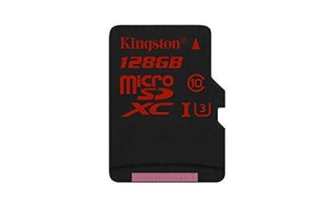 Kingston SDCA3/128GB microSDHC/SDXC 128GB Speicherkarte (UHS-I U3, 90R/80W)