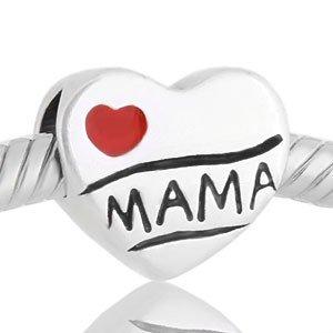 Abalorio Niagarra te quiero MAMA rojo, similar abalorios pandora dia de la madre