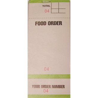 Stalwart G522 Bar Food Order Pad, Single Leaf (Pack of 50)