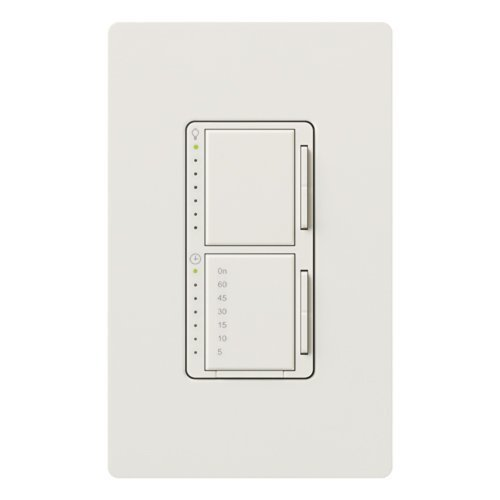 Lutron MA-L3T251HW-WH Maestro 2.5-Amp 300-watt Single Pole Dual Dimmer and Timer Switch, White by Lutron -