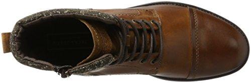 Jack & Jones Jfwmarly Cuir Cognac, Bottes Classiques Marron Homme (cognac)