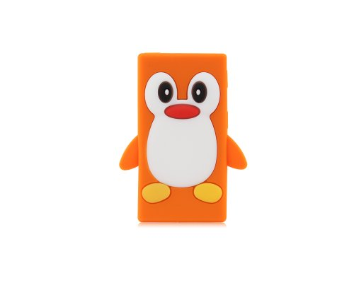 BONAMART ® Cute Pinguin Penguin Soft Gel Silikon Tasche Case Cover Hülle iPod Nano 7 7G 7th Gen Orange
